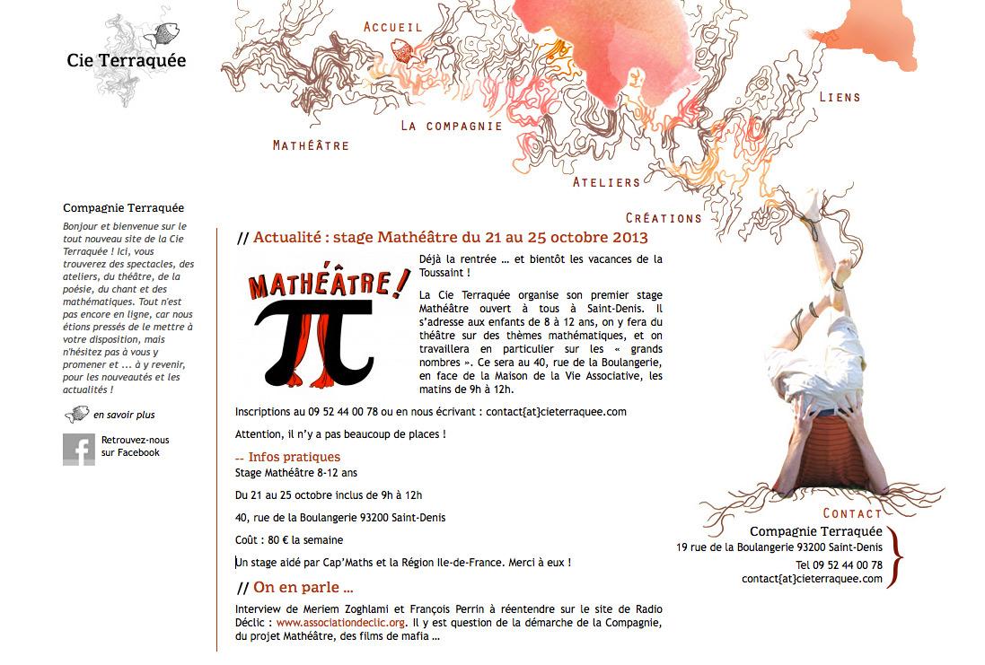 Site Internet Cie Terraquée